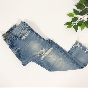 American Eagle Cotton Slim Fit Distressed Jeans